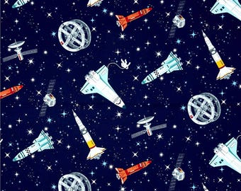 Space quilt etsy for Solar system fabric panel