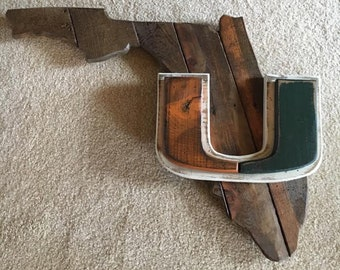 University of Miami Wooden Sign