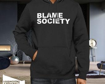 Blame Society Hoody Hooded Sweatshirt as Worn by Jay-Z