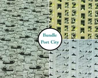 3 prints, 1 of each, Bundle, cotton designer, P & B Textiles, fat quarter at mètre, bird, boat