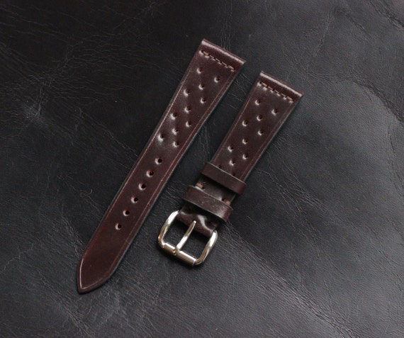 20/16mm Colour #8 Horween Shell Cordovan Rally watch band