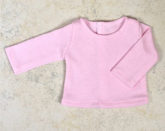 Basic Long Sleeve top 18 inch doll clothes Color Pink