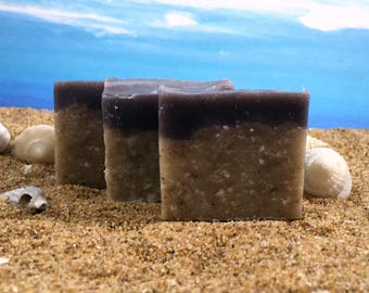 Beach Soap / Unscented Soap, Mini Soap, Sand Soap, Cocoa Butter Soap, Vacation Soap, Small Guest Soap, Palm Free
