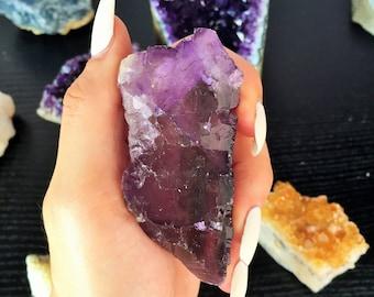 Purple Fluorite Healing Crystal Perfect for Reiki, Meditation, Chakras