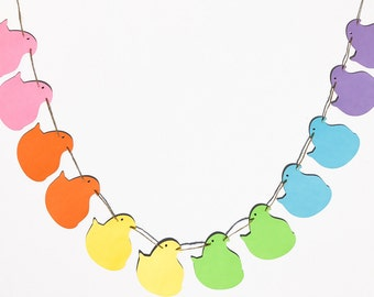 Marshmallow Chicks Garland | Easter Candy Banner | Easter Chicks Decor | Marshmallow Decoration | Easter Garland | Easter Decor