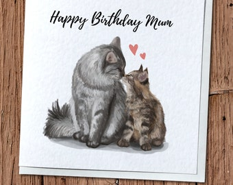 Cat & Kitten Greetings Card - Birthday, Thank You, Every Occasion