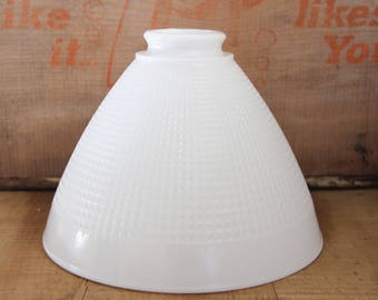 Glass Shade Lamp: milk glass shade, vintage milk glass lamp shade, lamp shade, torchiere lamp,  corning lamp shade, corning milk glass shade,Lighting