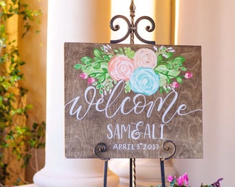 Wedding Wood Welcome Sign / Welcome Sign / Personalized
