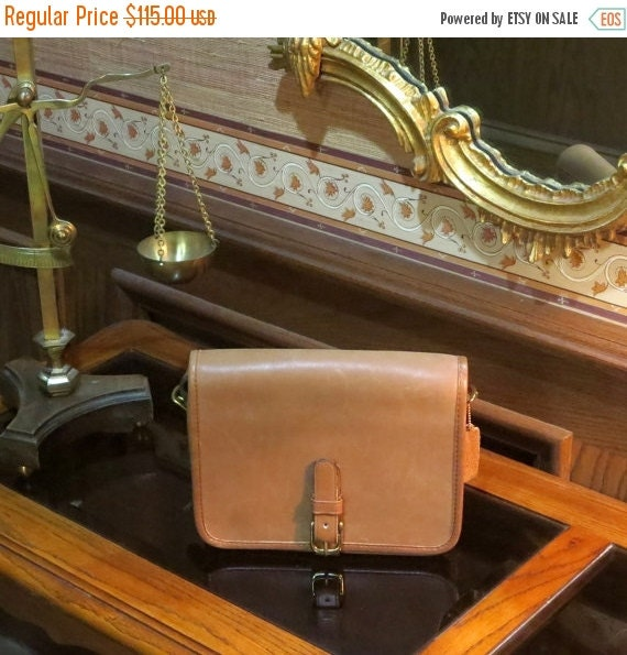 Football Days Sale NYC Coach Standard Saddle Pouch In Tabac (Could Be 'Putty') Leather- Made In New York City At 'The Factory'- Very Good Co