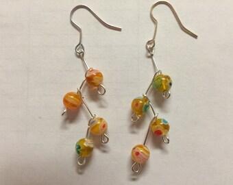 Multicolored Branch Earrings