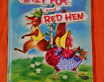 Vintage...Lazy Fox and Red Hen...Whitman...1957