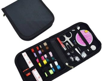 Craft DIY Sewing Kit With Zippered Enclosure for Travel,Home Includes Needles/Thread/Tape(CTJZ21-SEK-)