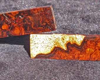 Redwood Burl Tie Clip