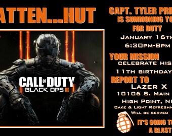 Custom Call of Duty Black Ops Invite