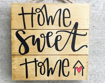 Home Sweet Home {wooden sign}