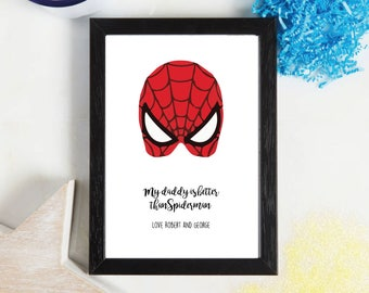 Fathers Day - Super Hero - Spiderman - Gift