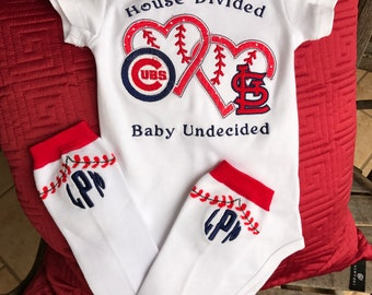Baby Onsie | Baseball Onesie | Baseball Leg Warmer | Baby Divided | Baby Boy |Baby Girl | House Divided | Bama Baby | UT Baby | Vol Baby