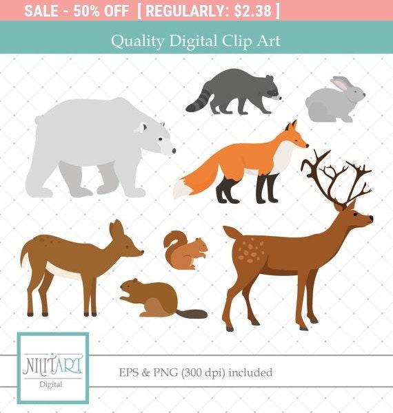 Wildlife clipart | Etsy