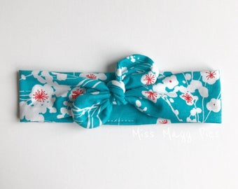 ON SALE - Cherry Blossom {Top Knot Headband}