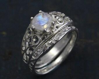 Moonstone bridal set Etsy