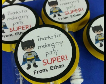 6 Batman Inspired Bubble Favors, Marvel Superhero  Favors