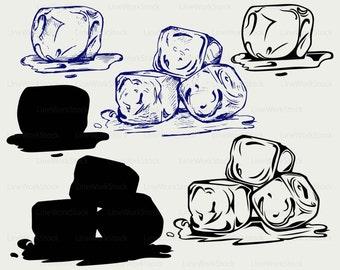 Ice cubes svg,ice cubes clipart,ice cubes svg,cubes silhouette,ice cubes cricut cut files,ice clip art,milk digital download svg,eps,png,dxf