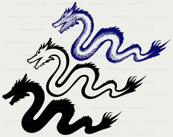 Chinese dragon svg,dragon clipart,snake svg,dragon silhouette,dragon cricut,snake cut files,snake clip art,digital download,designs,svg,dxf