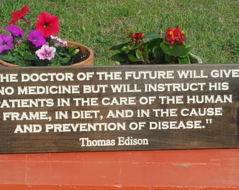 Chiropractor Chiropractic Chiropractor Gift Chiropractic Art Doctor of the Future Thomas Edison Quote
