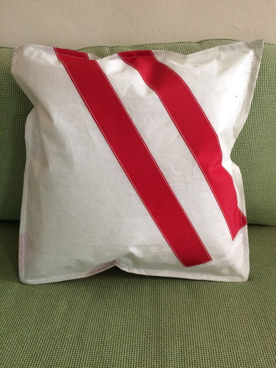 Recycle Or Throw Away Pillows : Recycled sailcloth throw pillow