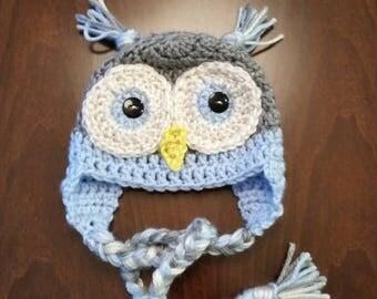 Owl newborn hat / photo prop