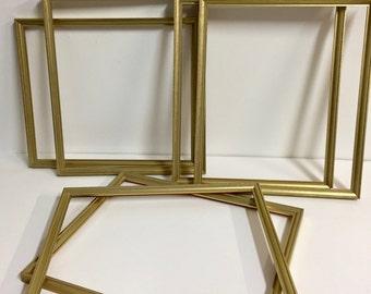 Vintage Picture Frames/Six Picture Frame Vintage/ Gold Leaf Wood Picture Frame/ Vintage Decor/ Vintage Frame