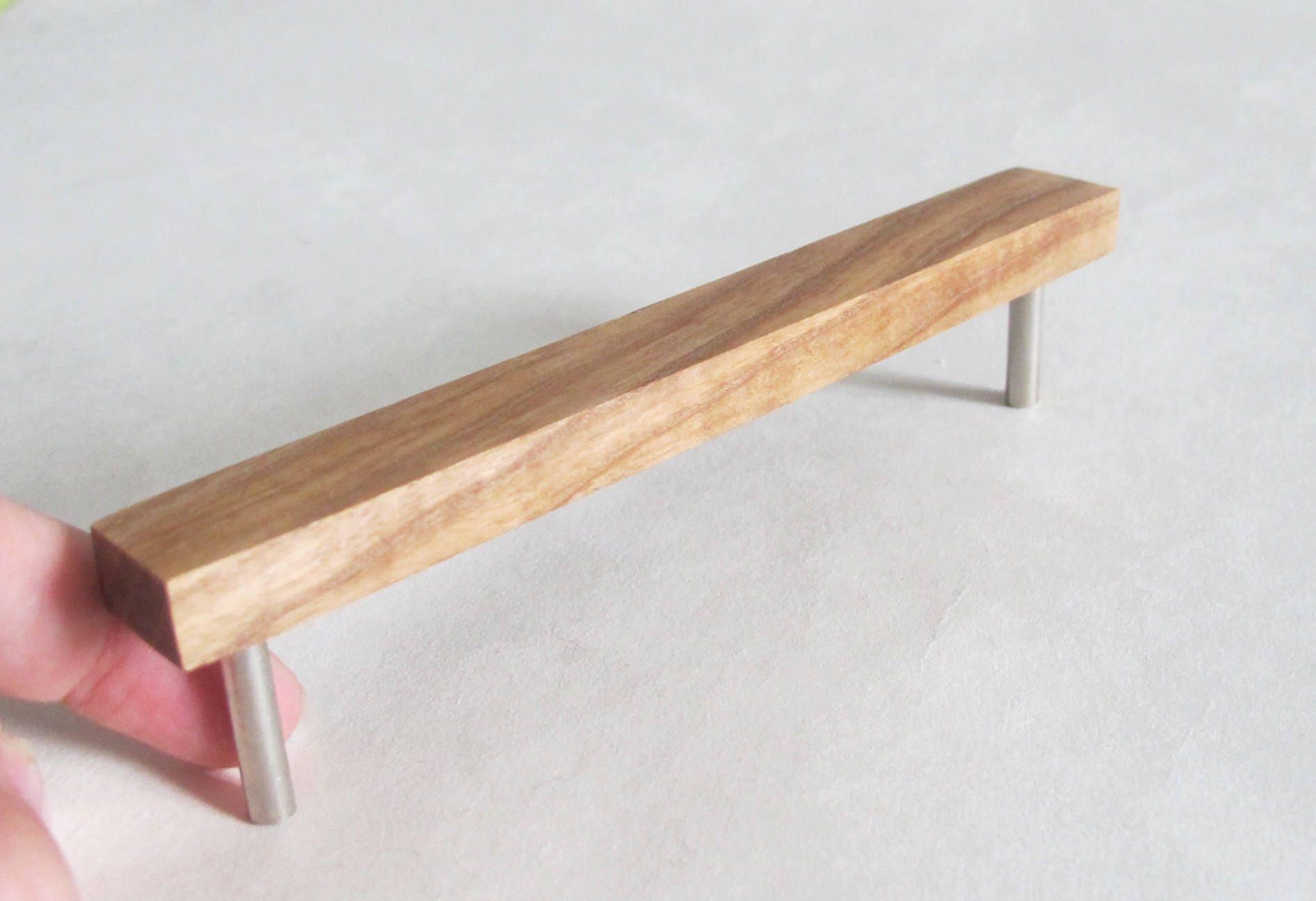 Wooden Furniture Hardware ~ Wooden drawer pulls set of oak wood handles