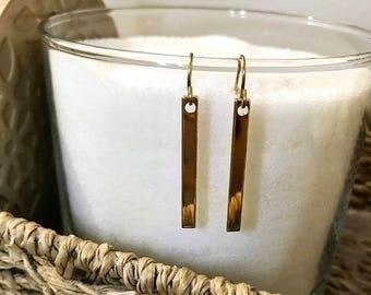 Simple Drop Bar Earrings