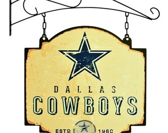 Dallas Cowboys Tavern Sign With Bracket