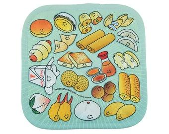 Dim Sum Potholder, Pattern Potholder, Oven Hot Pad, Kitchen Hot Pad, Quilted Potholder, Custom Oven Mitt, Hot Pad Oven Mitt, Cook Pot Holder