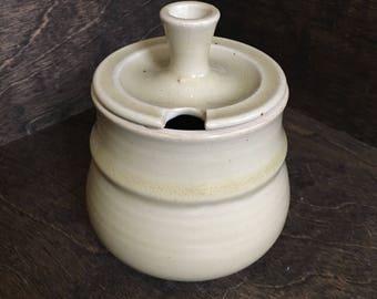 Handmade Ceramic Sugar Bowl, Ceramic Honey Pot, Stoneware Sugar Bowl