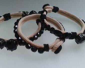 Bezel stones bracelet