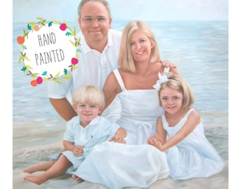 4 Subjects. Family Custom Portrait. Custom Oil Portrait. Custom painting. Family Portrait.Commission Painting. Custom Oil Painting. 5 Sizes