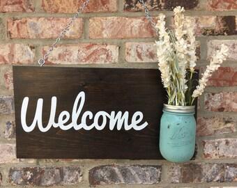 Mason Jar Welcome Sign and Wall Art
