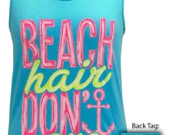 Girlie Girl Beach hair dont care tank new