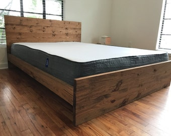 final day the great hills solid wood platform bed frame with elevated siderails - Solid Platform Bed Frame