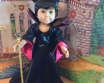 18 inch doll clothes-Maleficent doll clothes