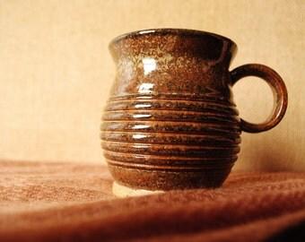 brown speckle hand-made ceramic mug