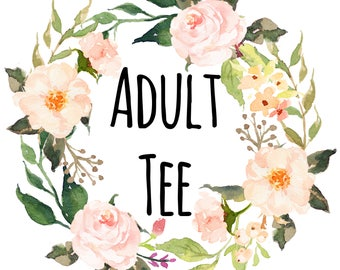 Adult tee listing for any kids style