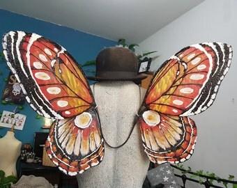 In Stock - Large Orange Butterfly Wings