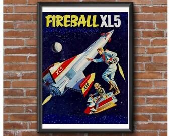 Fireball XL5 TV Show Tribute Poster- Steve Zodiac & Venus of World Space Patrol