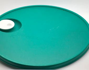 Tupperware Crystalwave Seal Lid Vented Cap Replacement Part # 2651 Green White Lid For Crystal Wave  Divided Dish