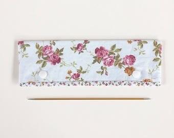 "20cm / 8"" DPN Holder / Case / Cosy Vintage Roses for Knitting"