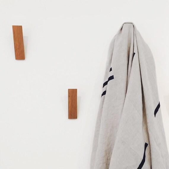 Eiken houten muur haak met eenvoudige minimale Design.