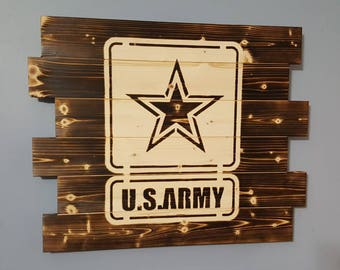 United States Army, Army Wooden Rustic Wall Art